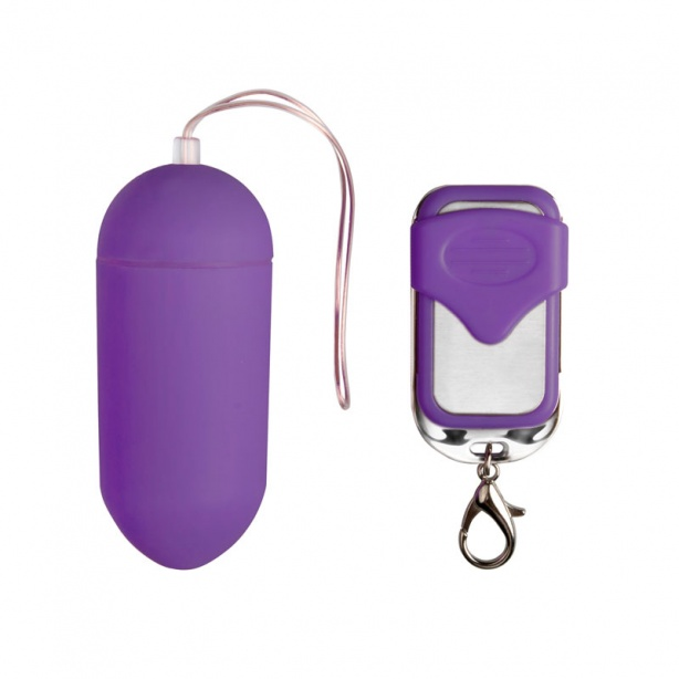 Remote Controllable Vibrating Egg - Purple