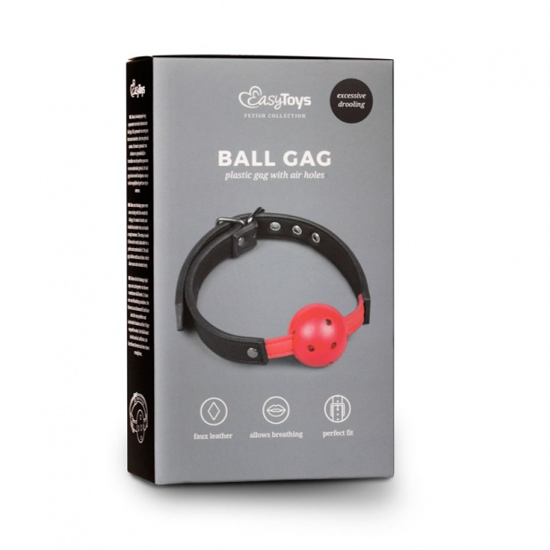 Ball Gag With PVC Ball - Red