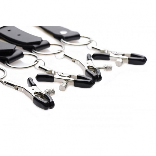 Spread Labia Spreader Straps with Clamps