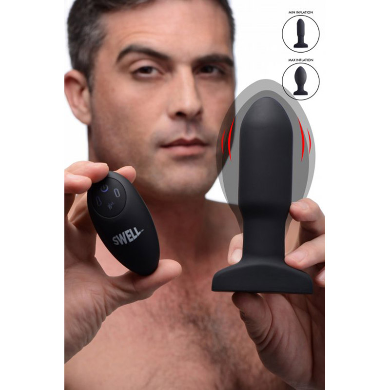 Inflatable And Vibrating Missile Anal Plug